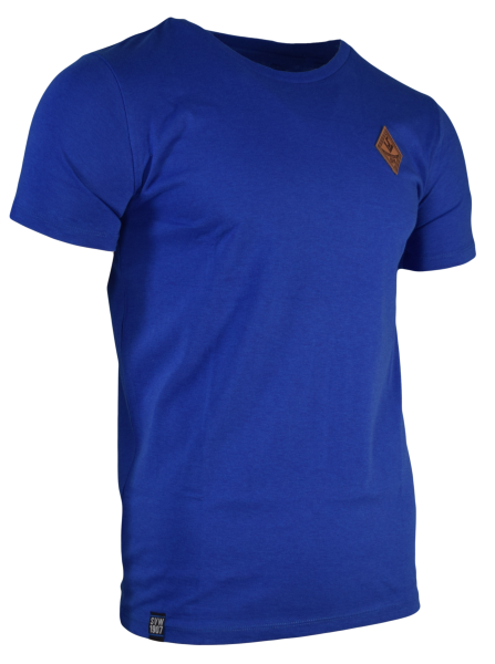 T-Shirt - Leder-Logo royal