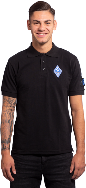 Polo-Shirt schwarz - Armpatch